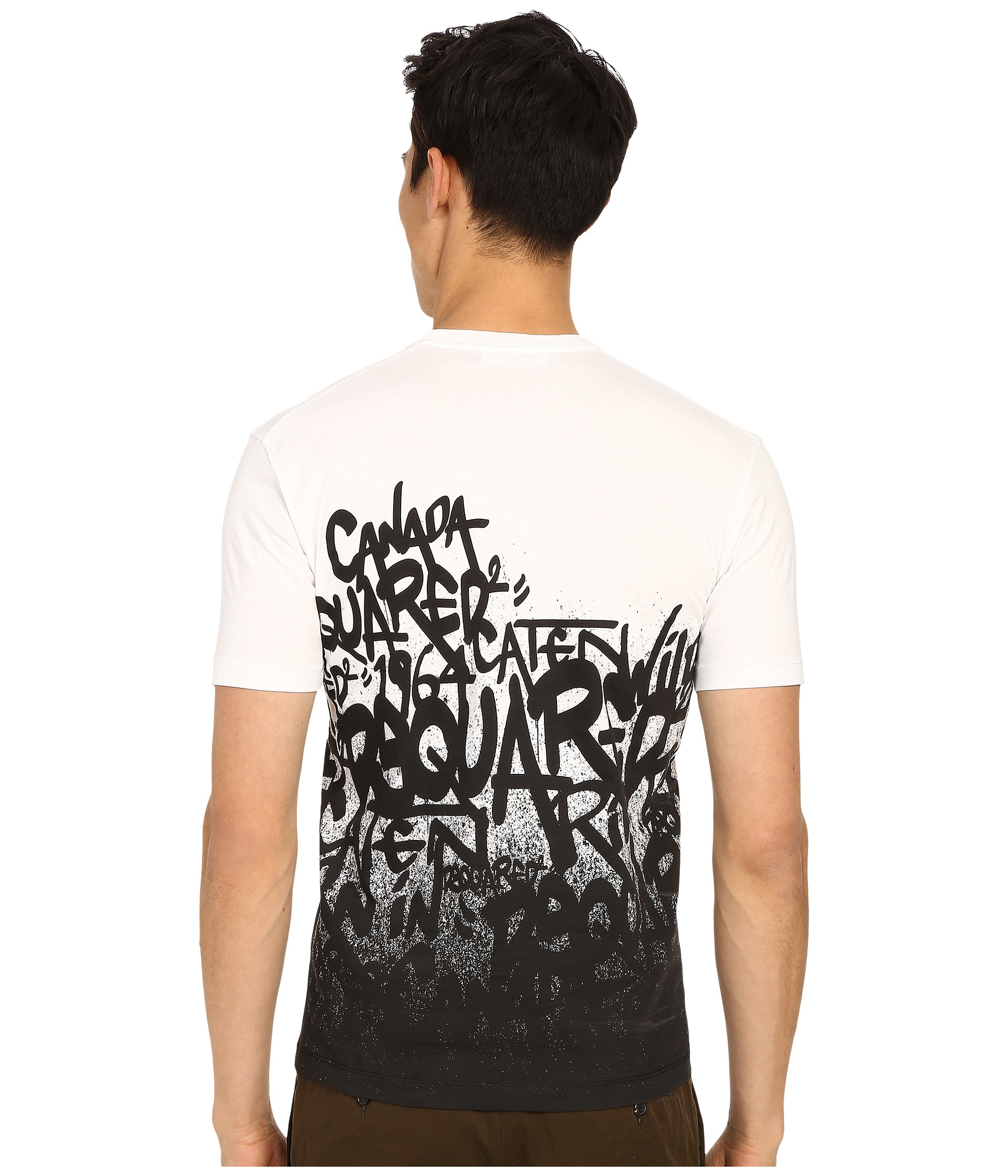 Lyst Dsquared 178 All Over Ds2 Graffiti T Shirt In White