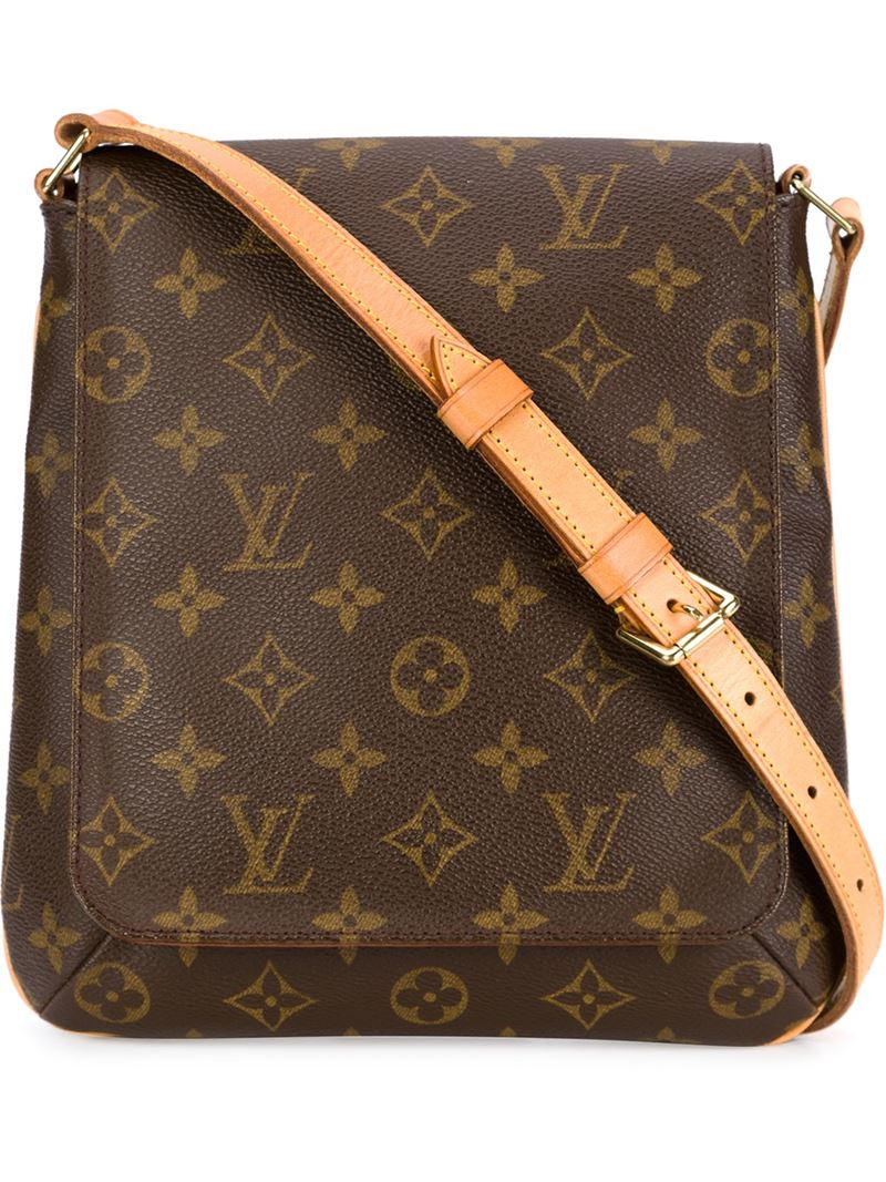 louis vuitton 39 musette salsa 39 shoulder bag in brown lyst. Black Bedroom Furniture Sets. Home Design Ideas