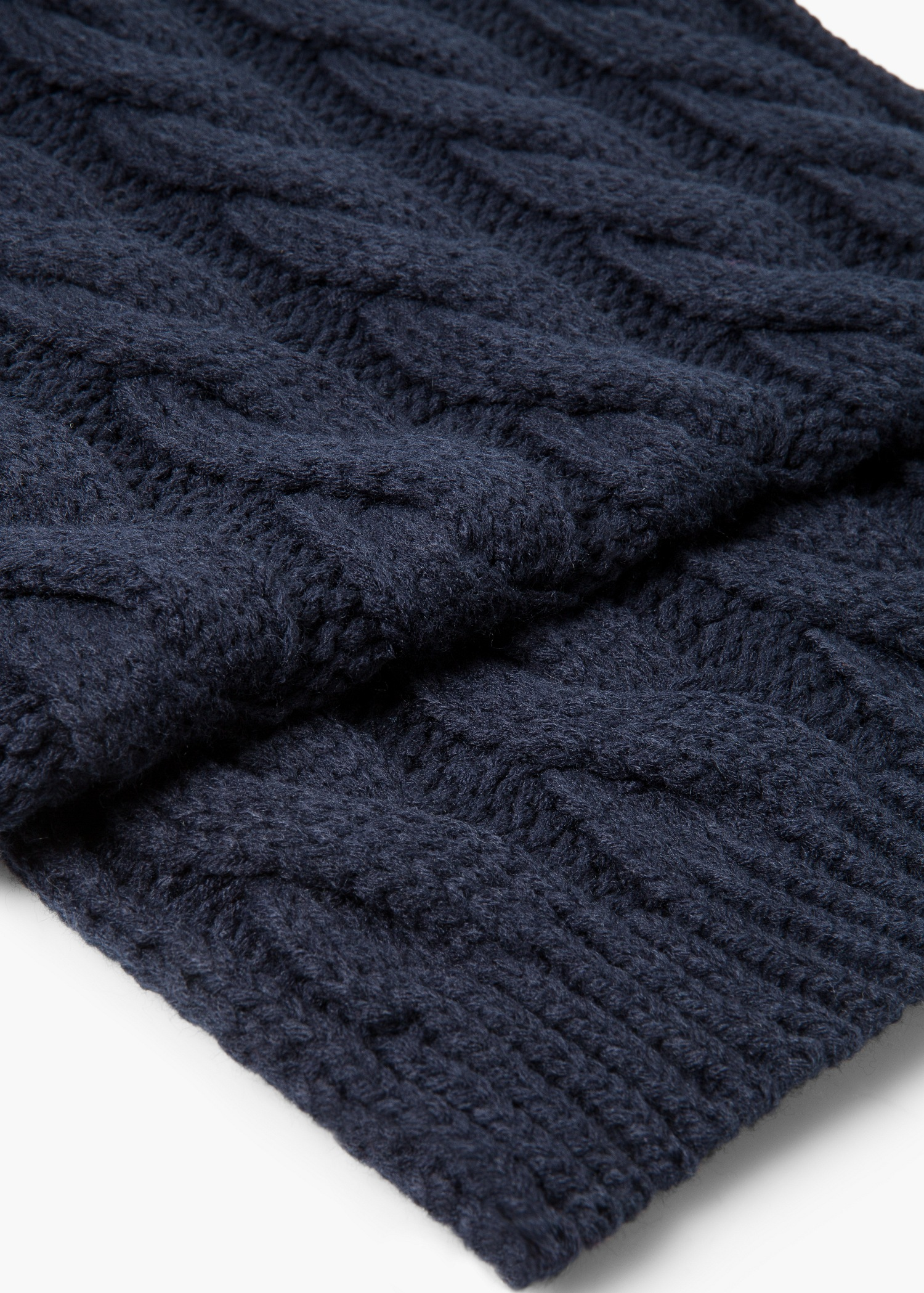 Lyst - Mango Cable-knit Scarf in Blue for Men