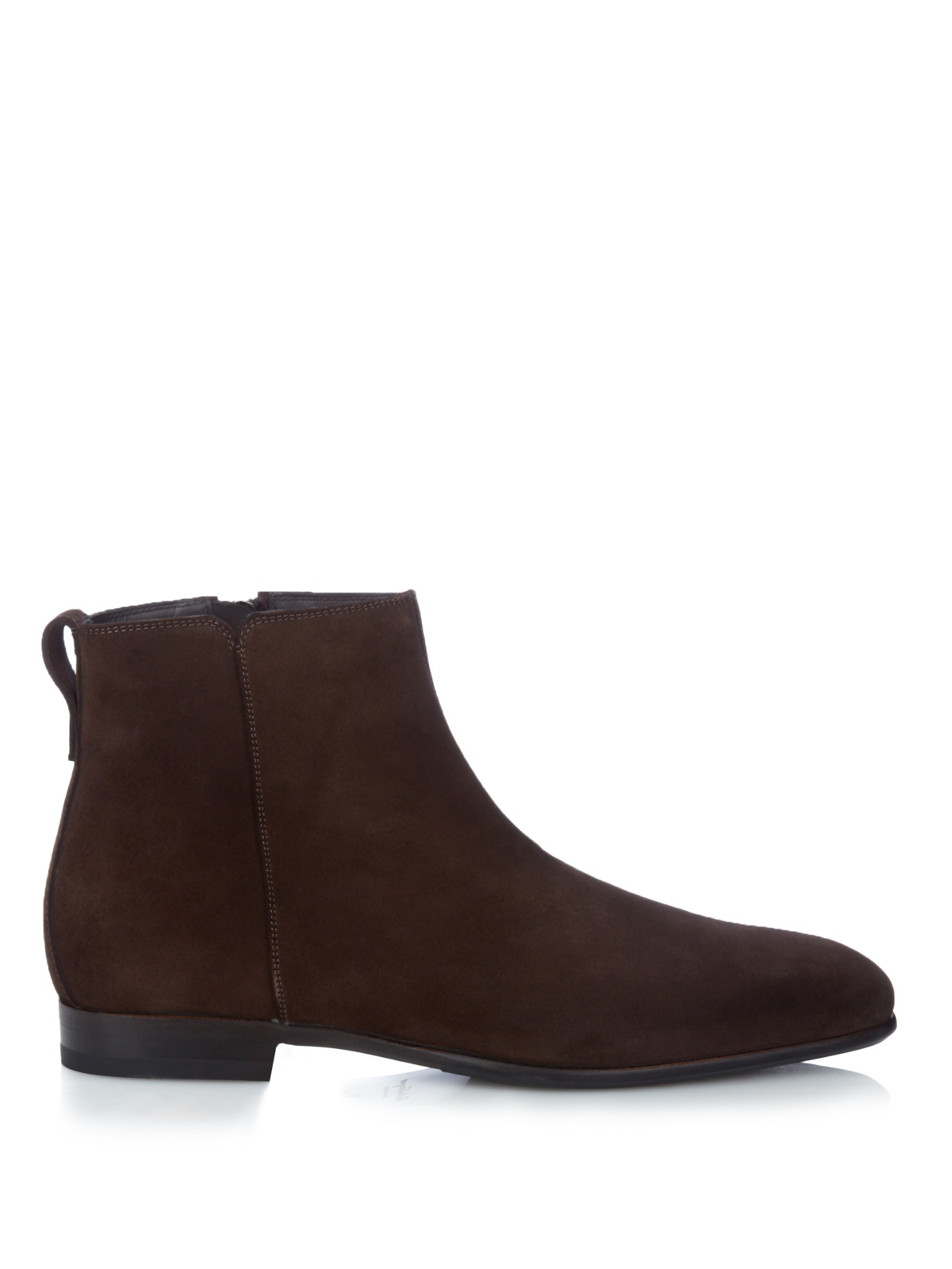 Ferragamo Mistero Suede Chelsea Boots In Brown For Men Lyst