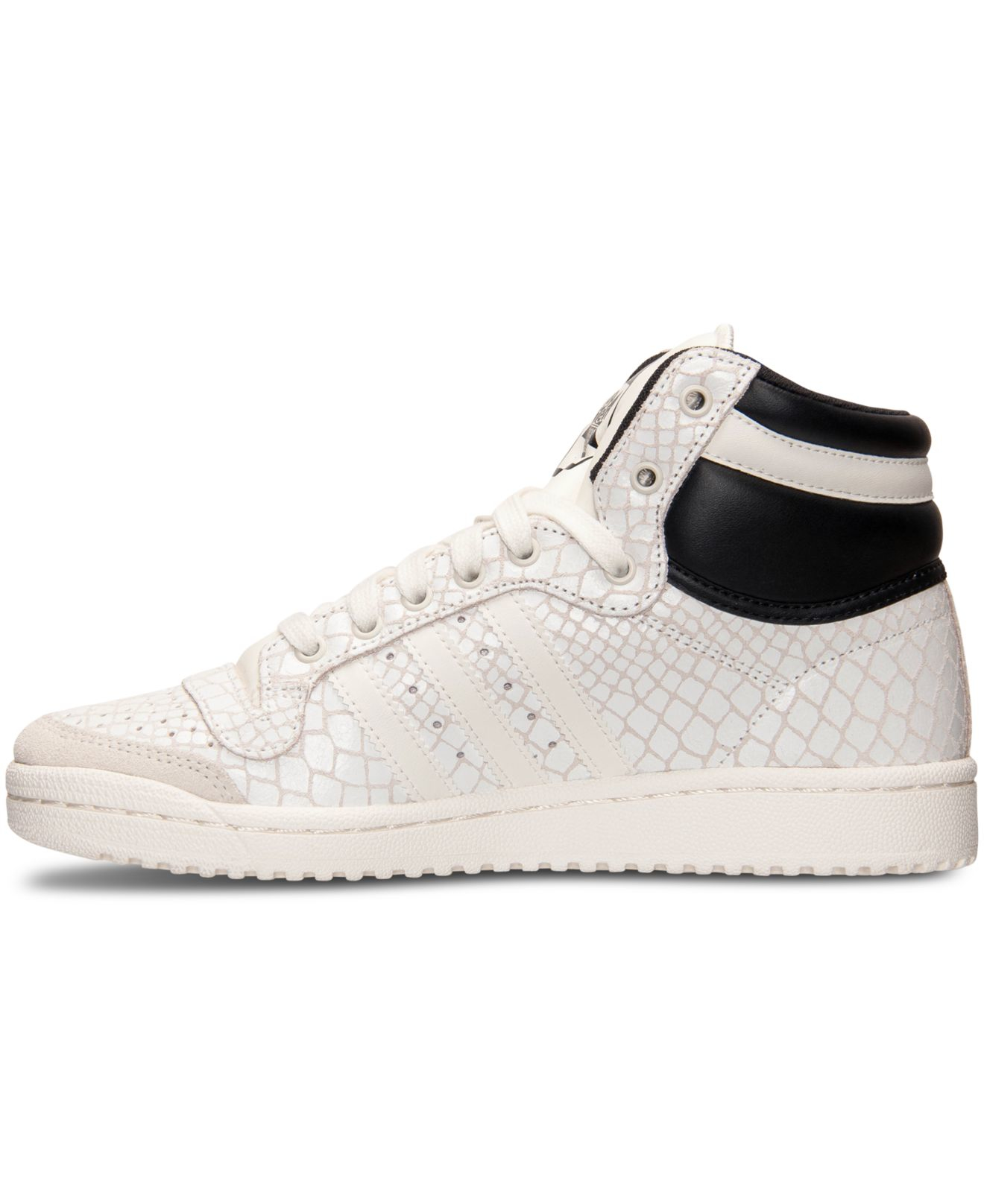 huge selection of c056c dd390 adidas Originals Women s Top Ten Hi Casual Sneakers From Finish Line in  White - Lyst