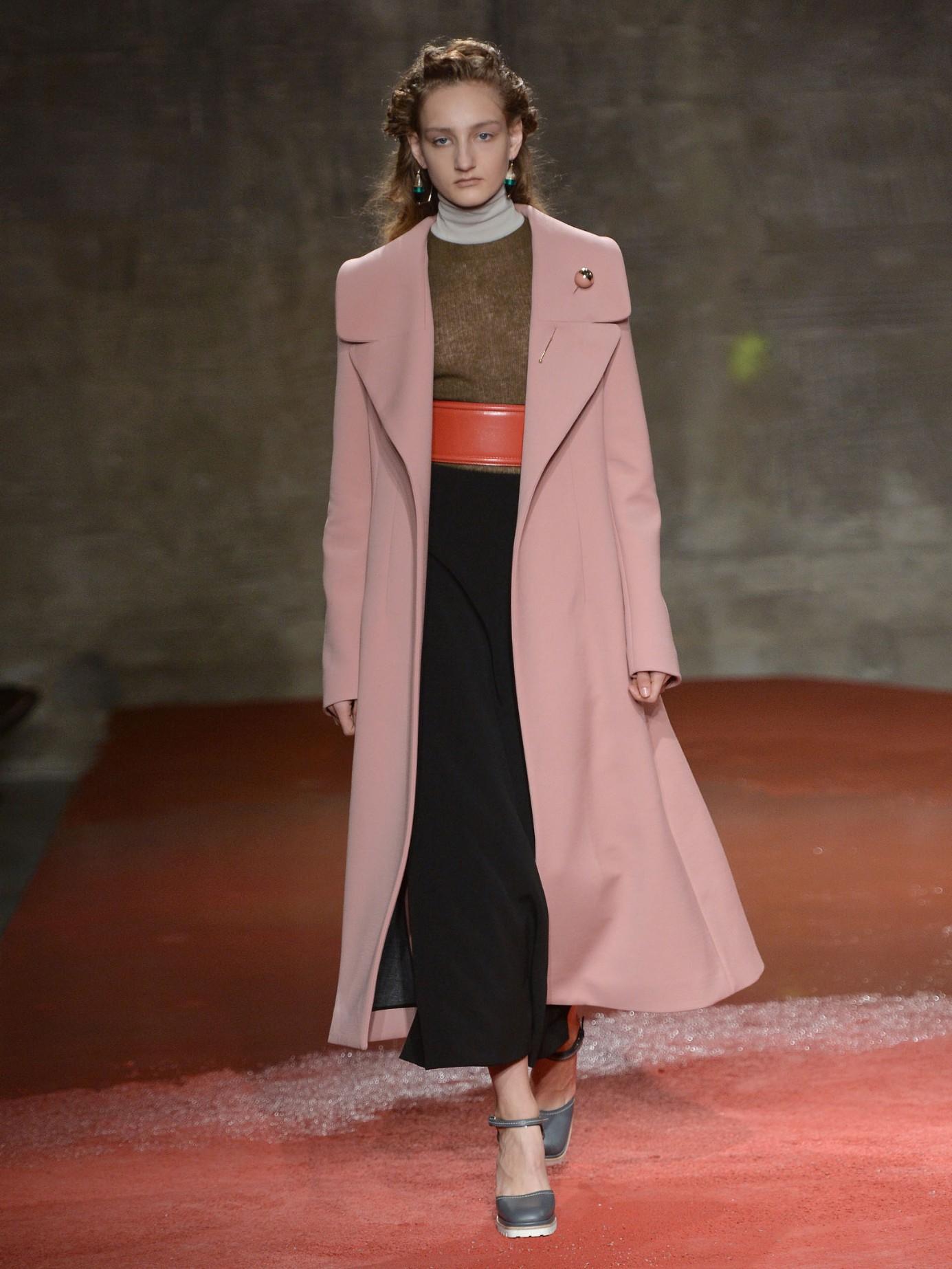 Marni Wide Notch-lapel Wool-blend Coat in Pink | Lyst