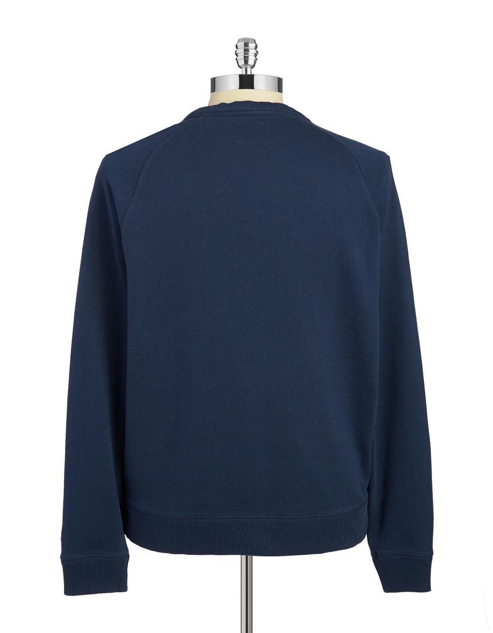Brooks brothers red fleece Crewneck Sweatshirt in Blue for Men | Lyst