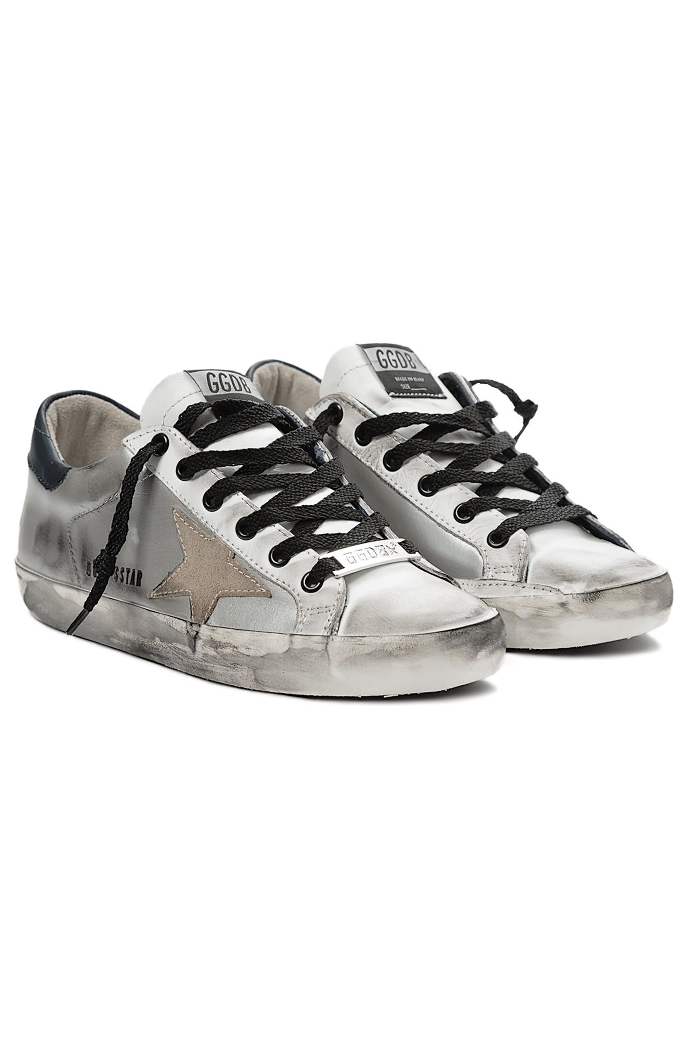 65d1349b82bc Golden goose deluxe brand Superstar Low Sneaker in Silver .
