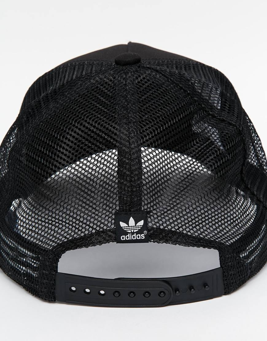Lyst - adidas Originals Trucker Cap in Black for Men db19d5a6428