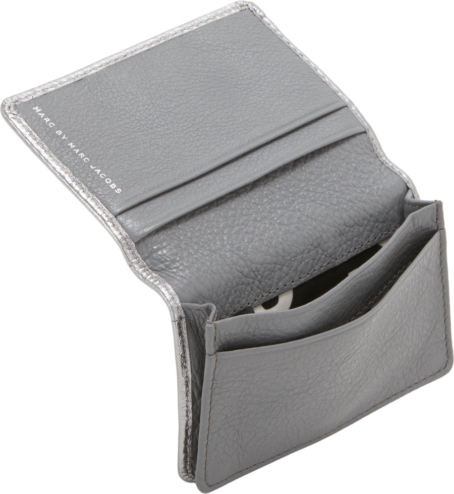 Lyst marc jacobs classic q card case in gray gallery colourmoves