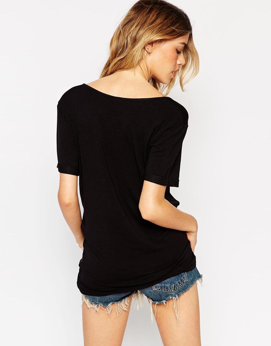 Lyst asos the new forever t shirt 2 pack black in black for Asos design free t shirt