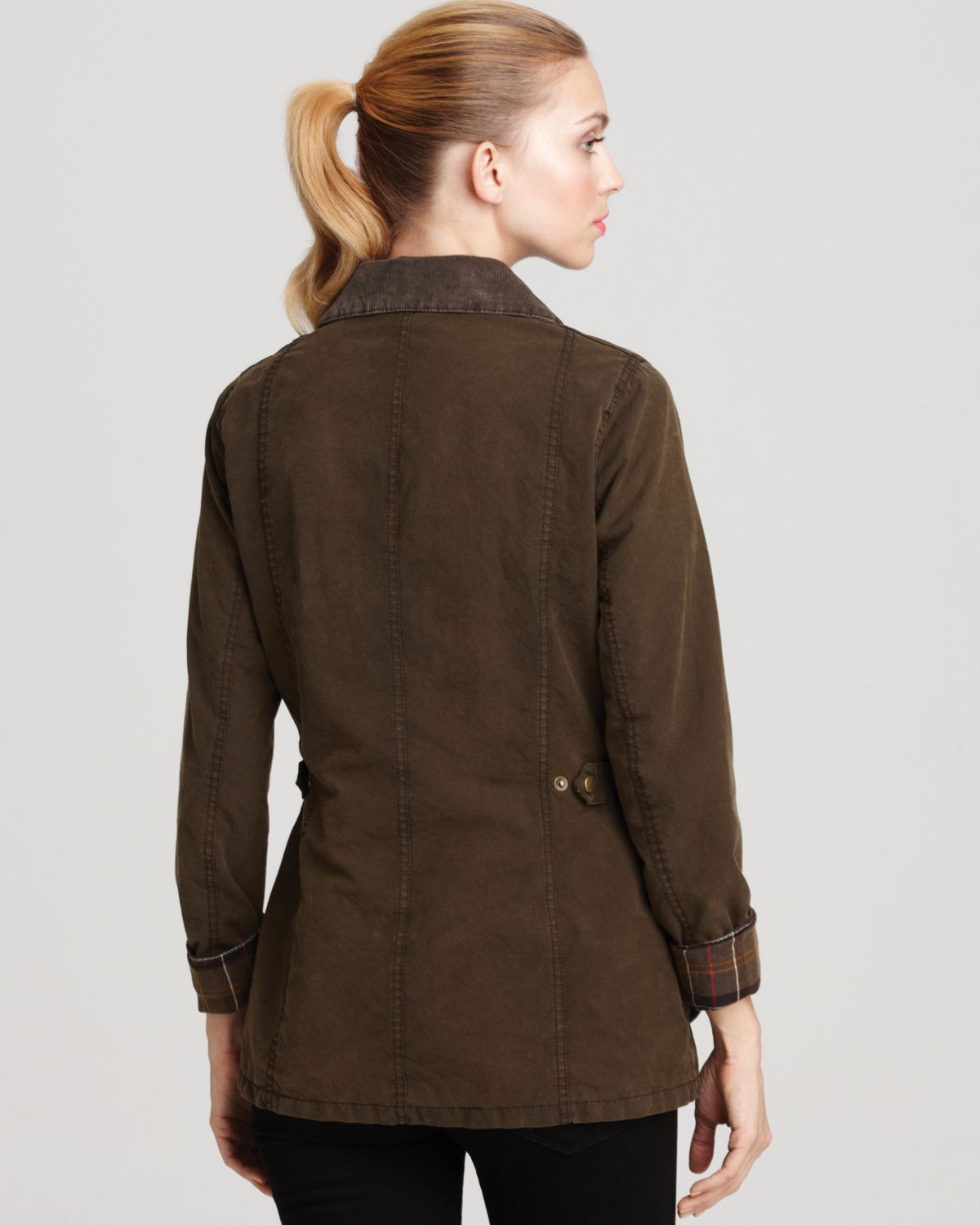 Barbour Vintage Beadnell Jacket In Olive Brown Lyst