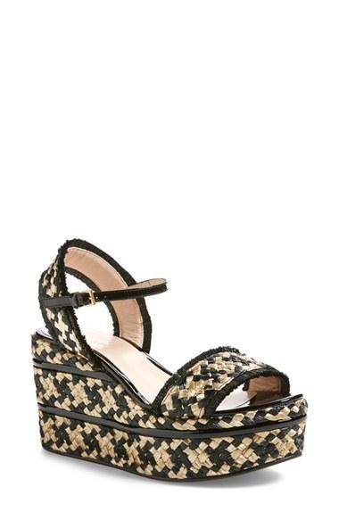 Gucci Maya Wedge Platform Sandal In Black Lyst