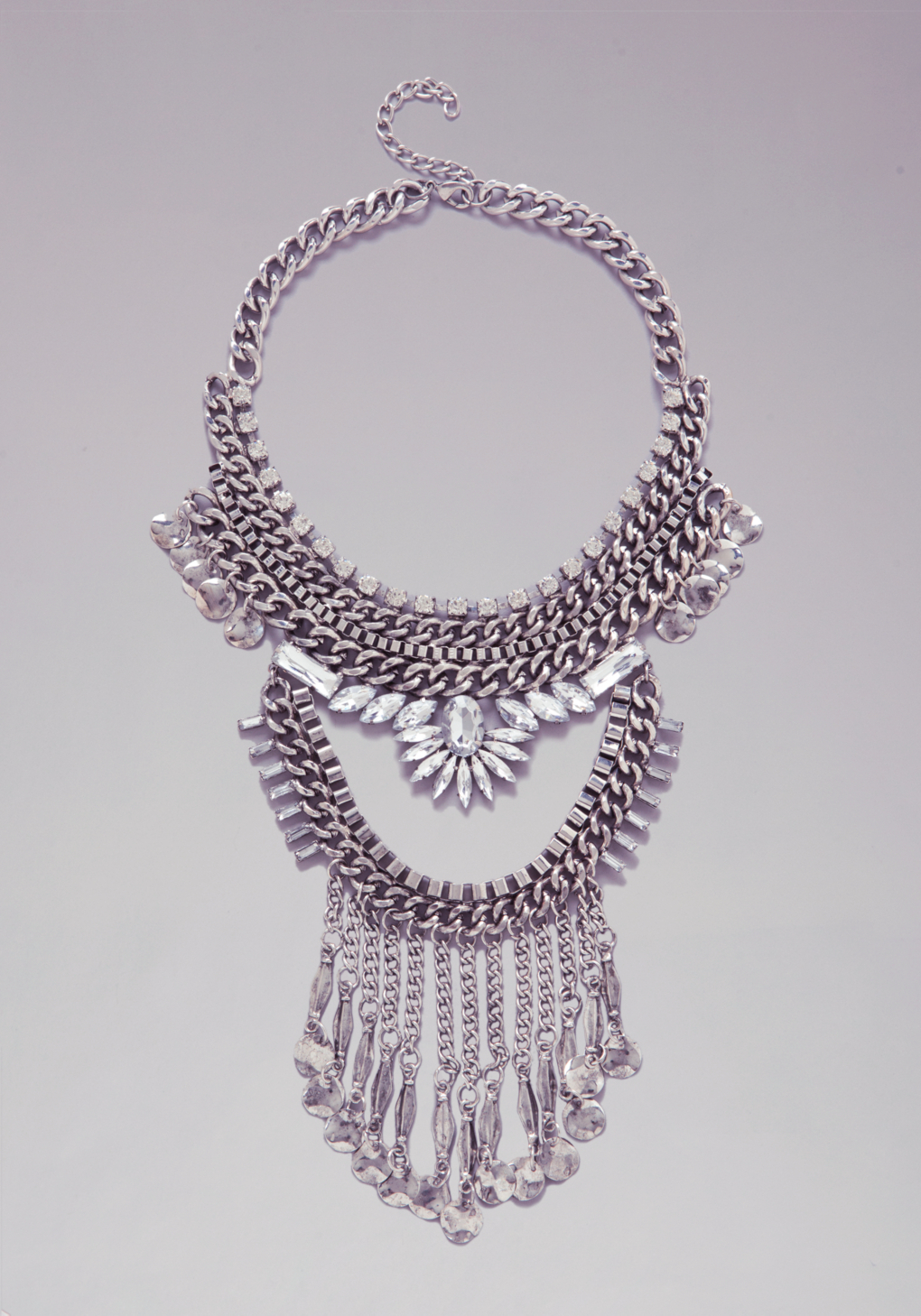 Bebe Chainlink Coin Necklace in Metallic - Lyst