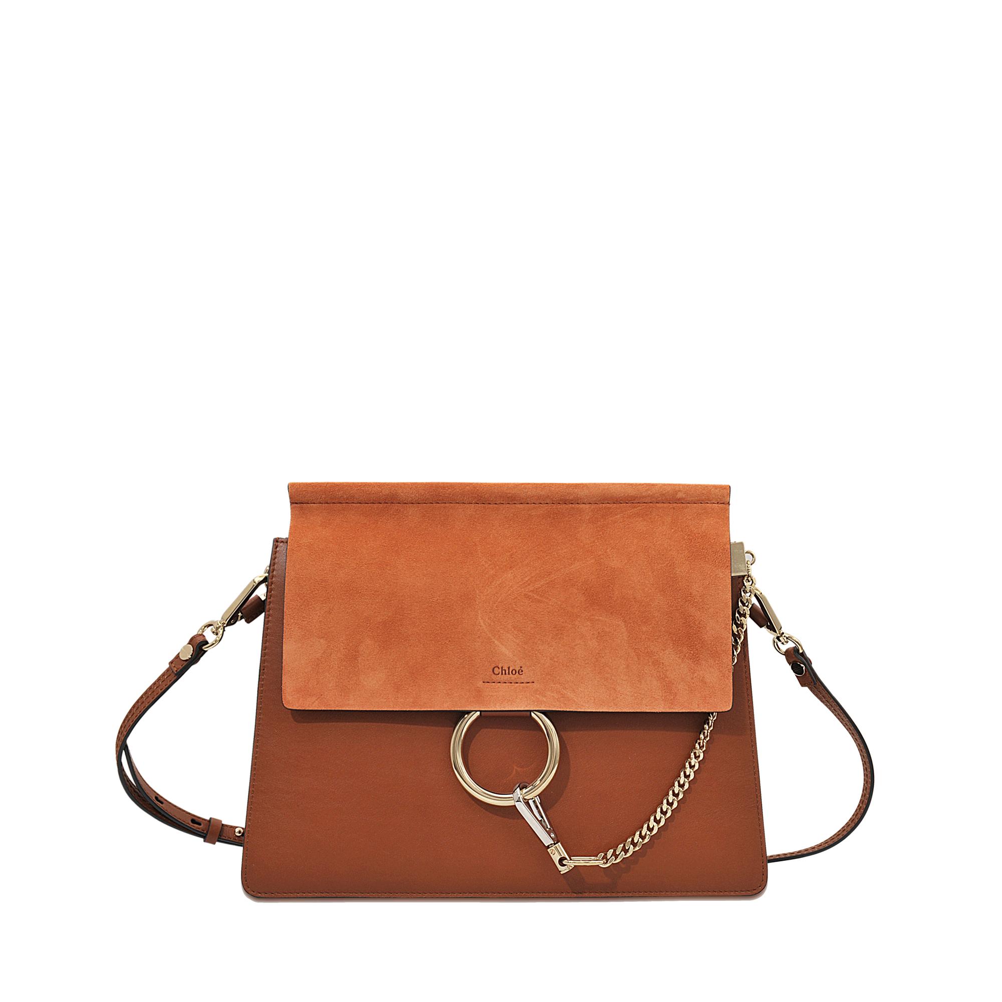 8325e5bf45 Chloé Faye Medium Shoulder Bag in Orange - Lyst