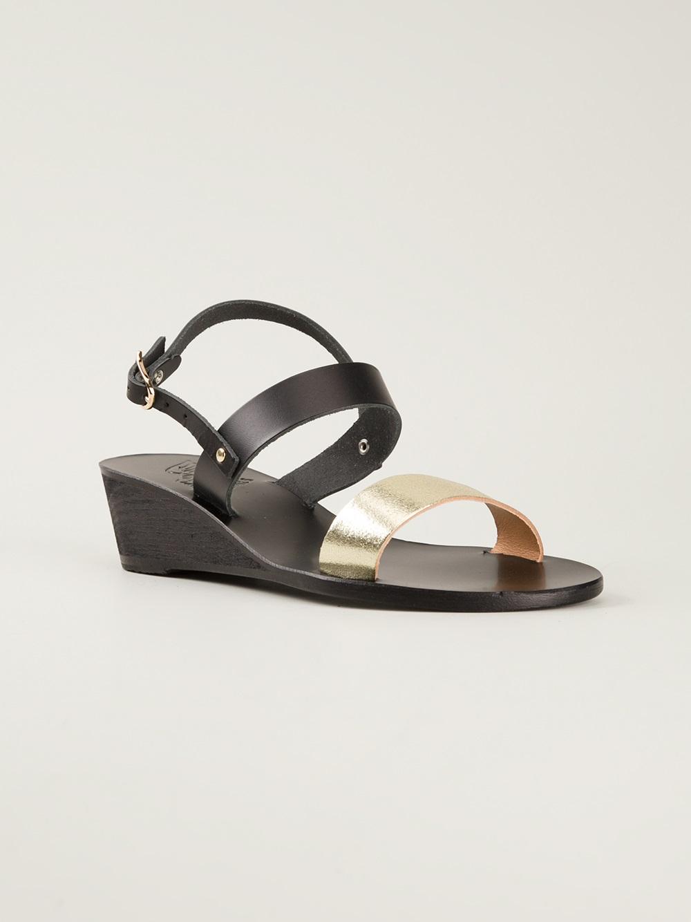 86b21382b99 Lyst - Ancient Greek Sandals Clio Wedge Sandal in Black