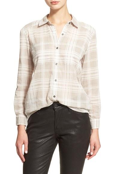 Lyst soft joie 39 lieutenant 39 plaid cotton gauze shirt in gray for Soft cotton dress shirts