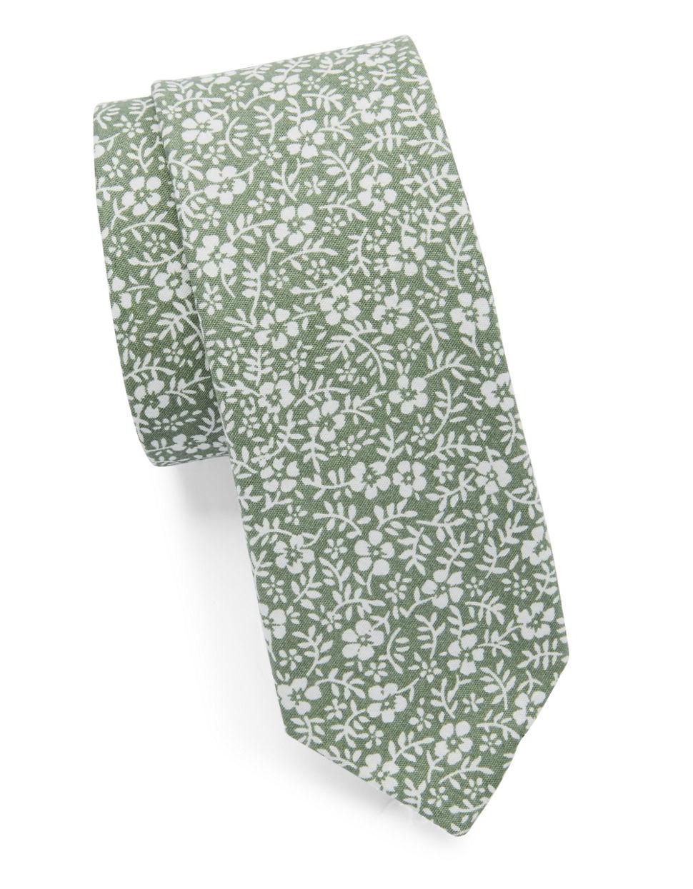 Lyst - Original Penguin Floral Tie in Green for Men