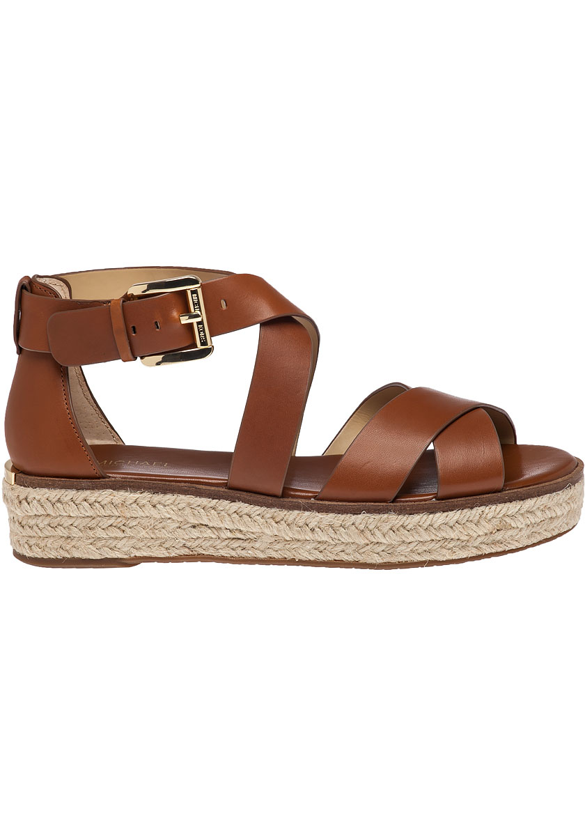 Lyst Michael Michael Kors Darby Leather Platform Sandals