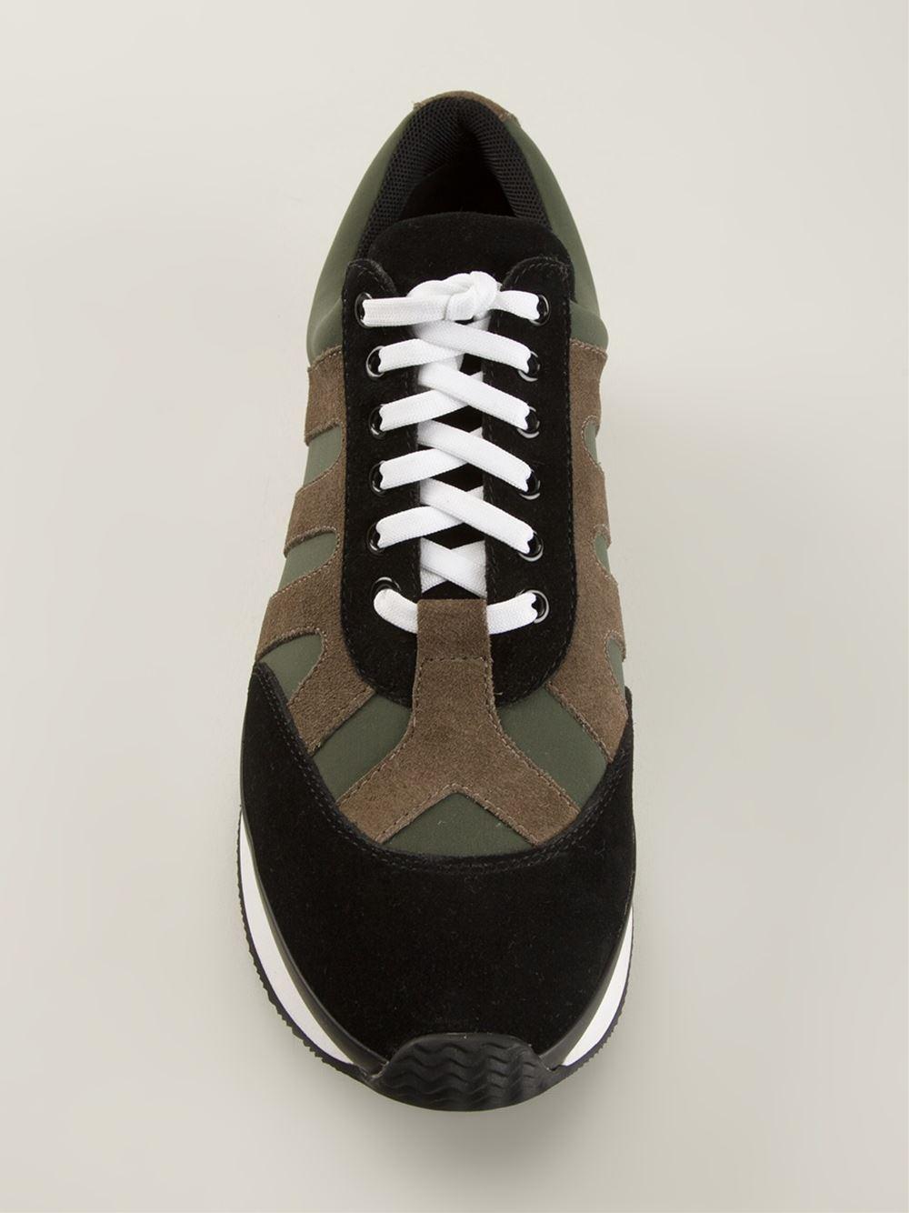 KENZO Panelled Sneakers in Black