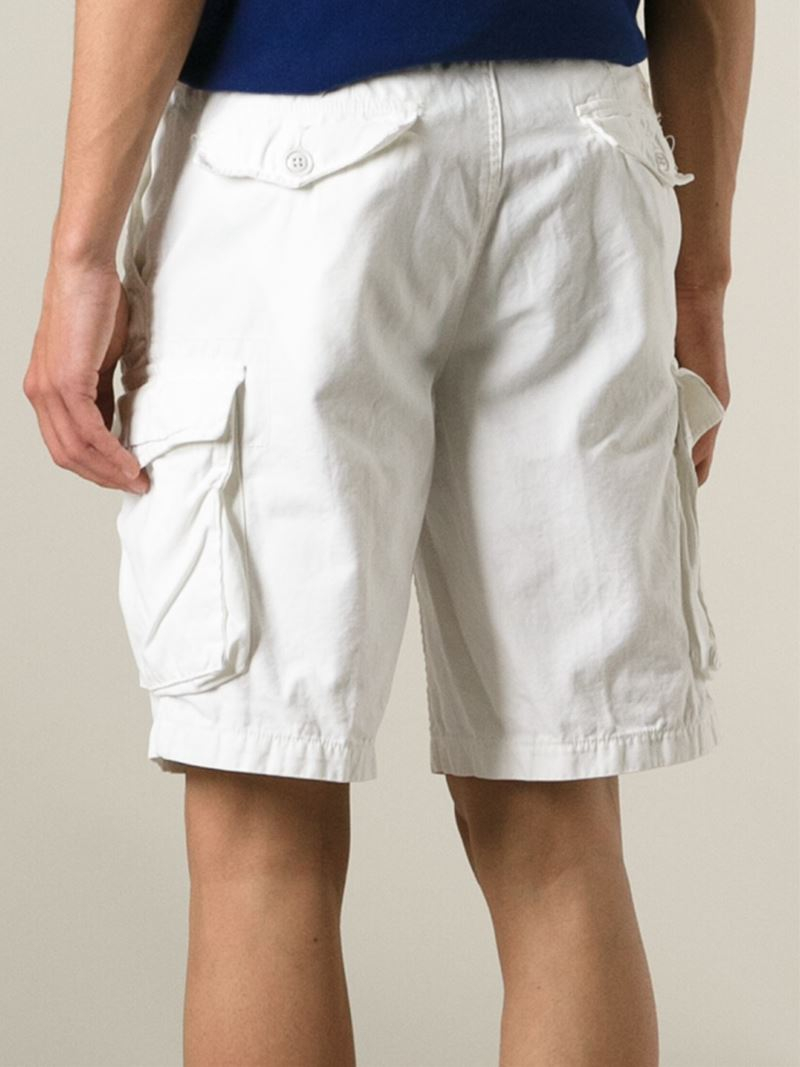 bedcaea36 Polo Ralph Lauren Cargo Shorts in White for Men - Lyst