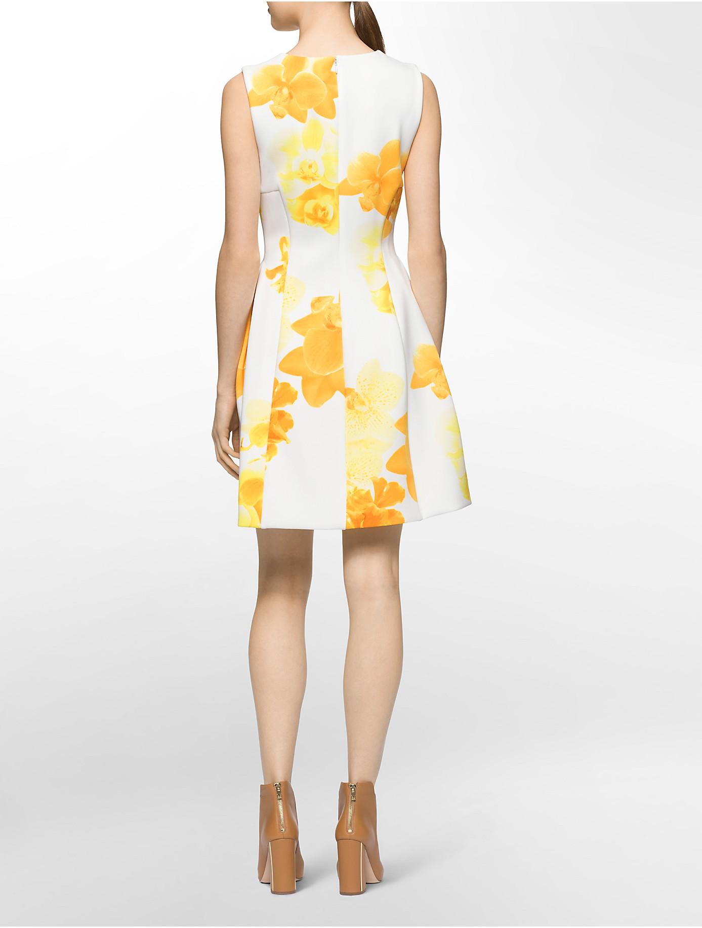 Calvin Klein White Label Sleeveless Floral Print Fit