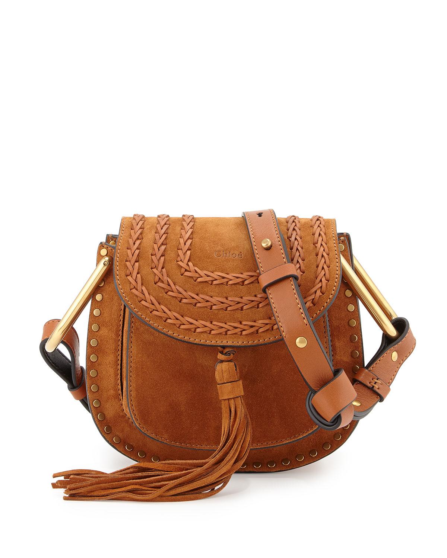 Chlo�� Hudson Mini Suede Shoulder Bag in Brown (CARAMEL) | Lyst