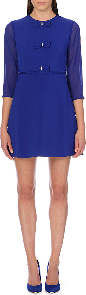 1401c51b62e180 Ted Baker Finna Bow Detail Dress Blue in Blue - Lyst