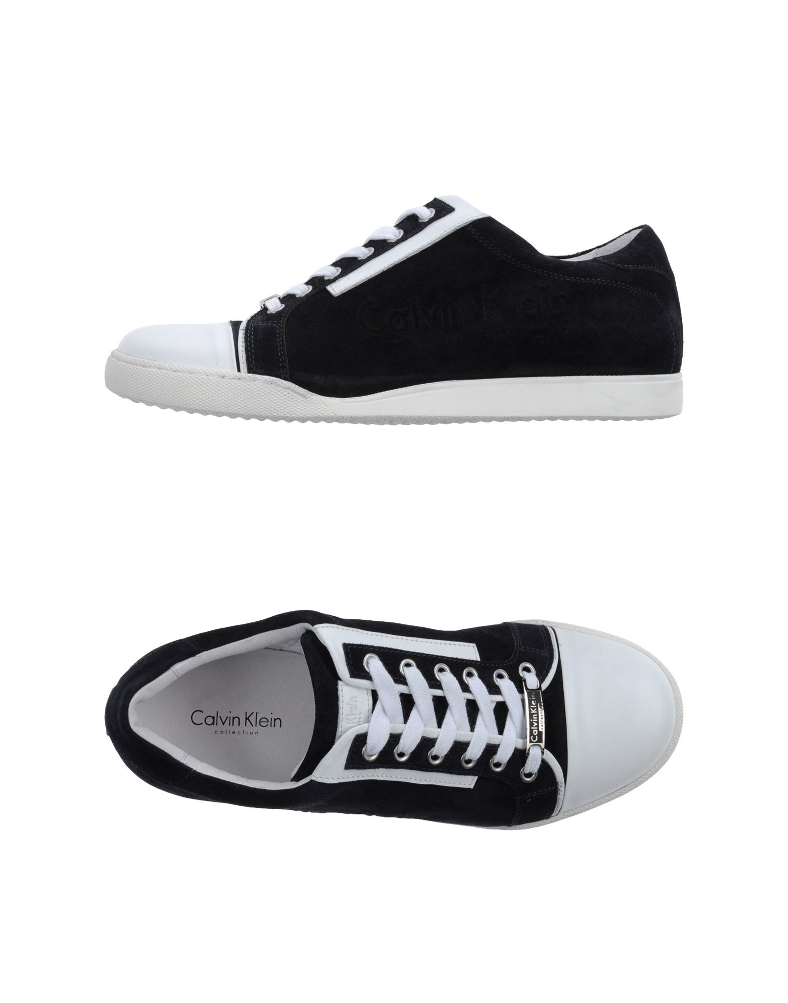 calvin klein low tops trainers in blue for men lyst. Black Bedroom Furniture Sets. Home Design Ideas