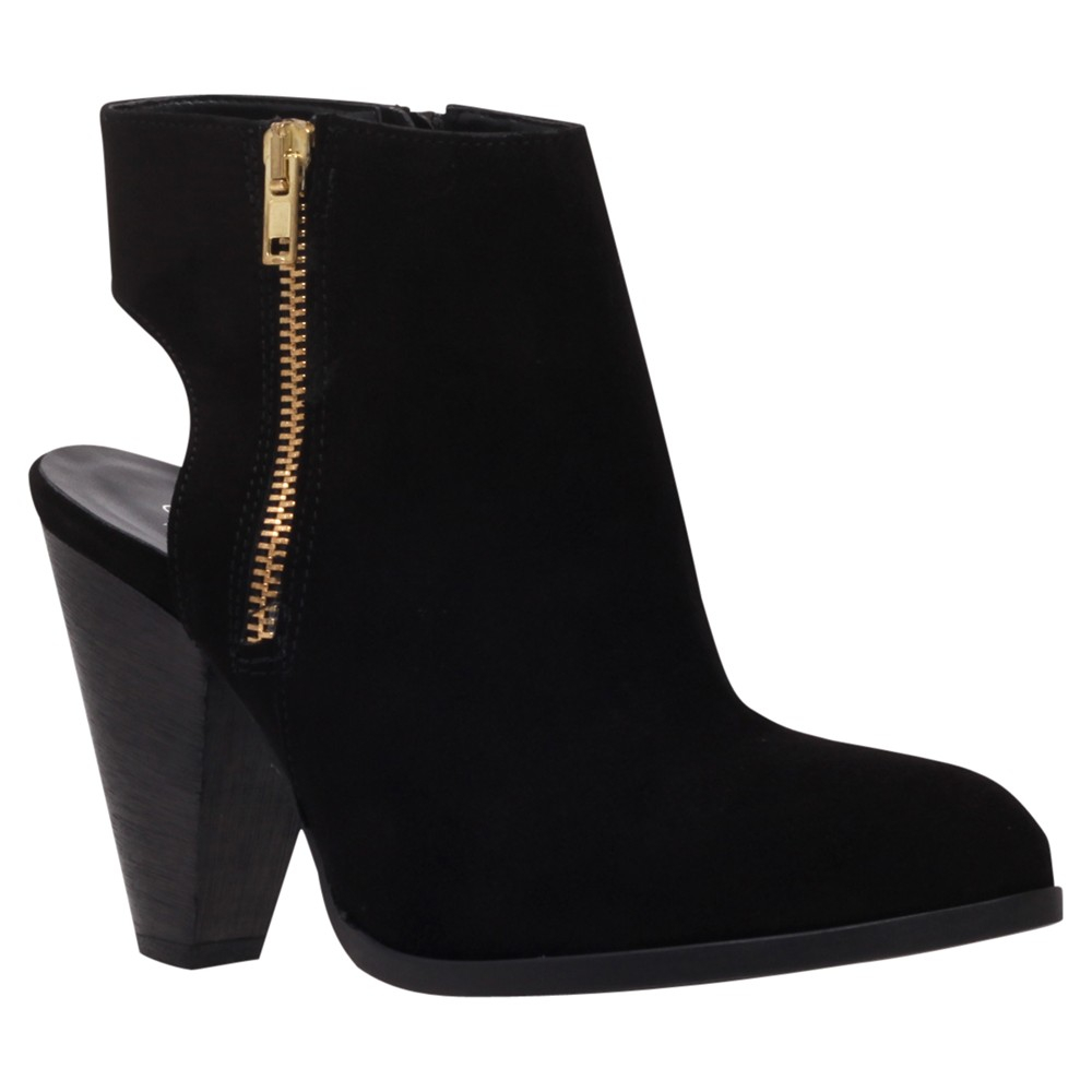 Carvela Kurt Geiger Shy Suede Backless Cone Heel Ankle Boots in Black