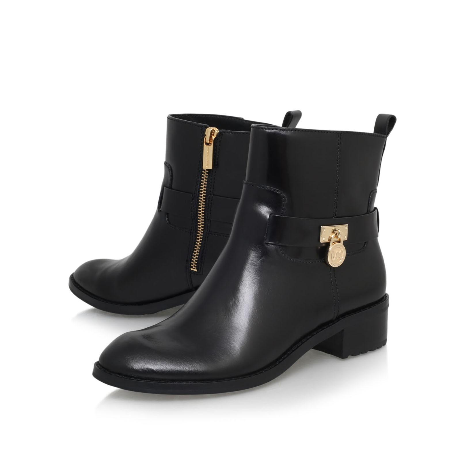michael michael kors ryan ankle boot in black lyst. Black Bedroom Furniture Sets. Home Design Ideas