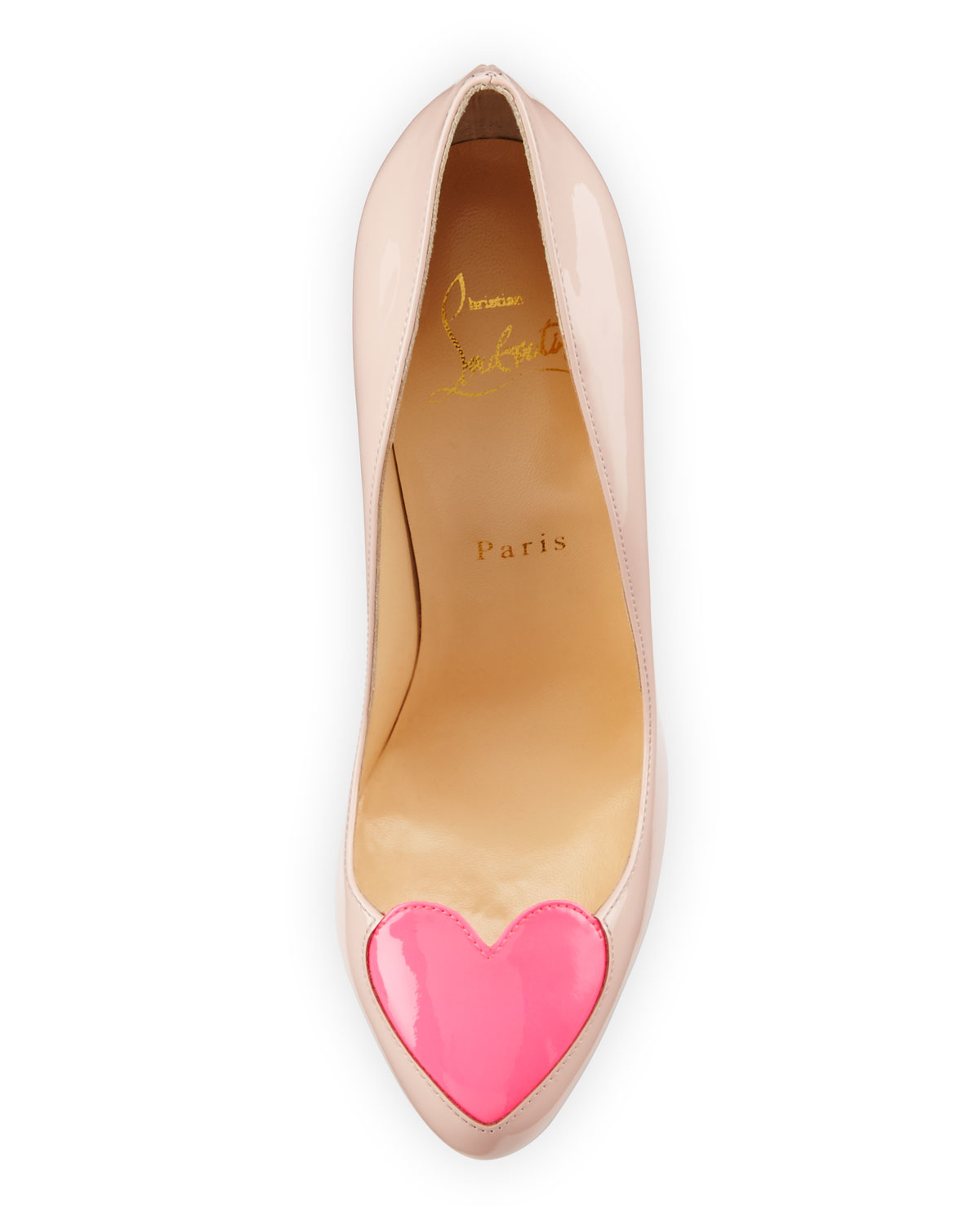 christian louboutin white heart shoes