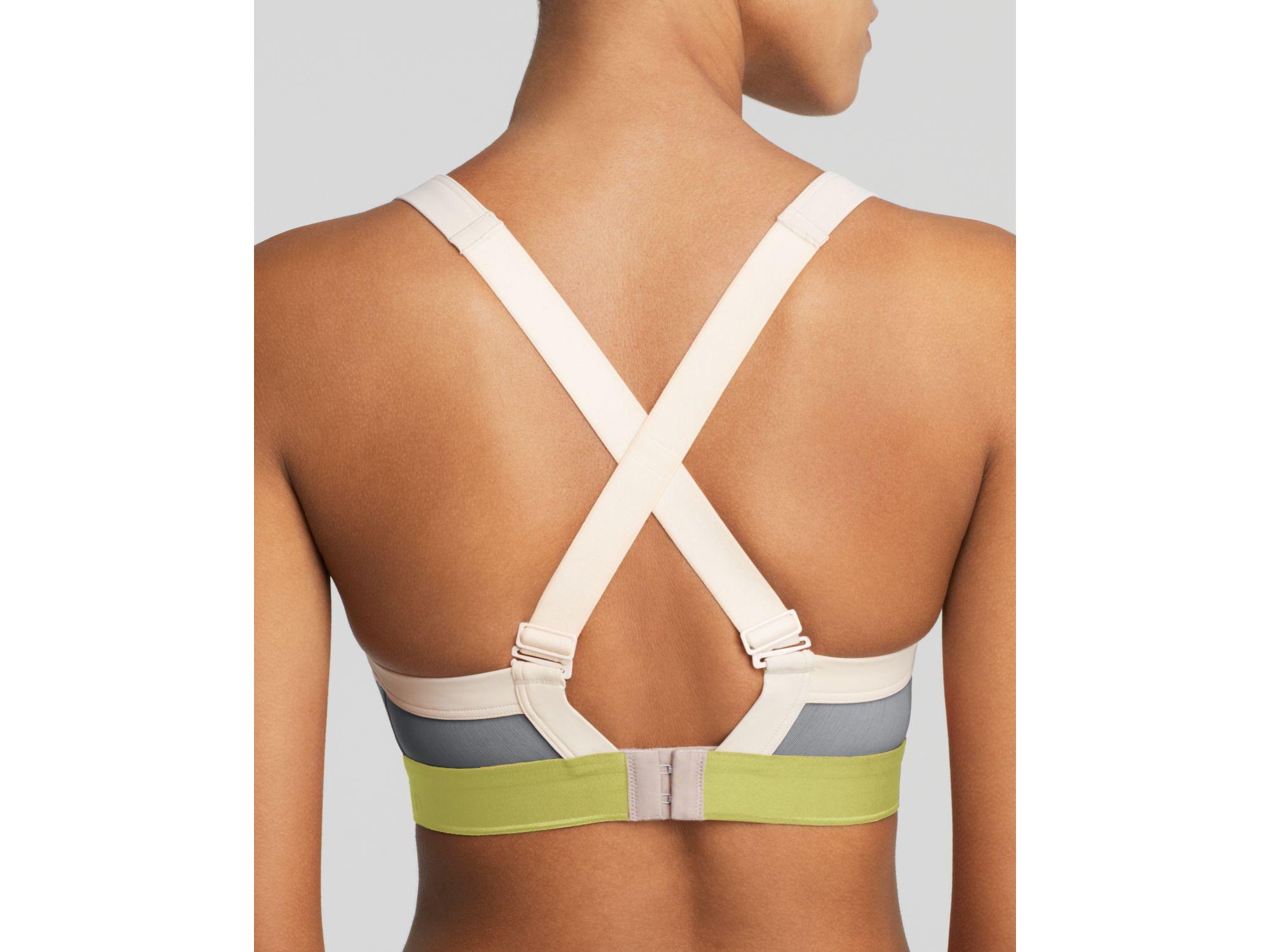 c37fd10a2a Lyst - Calvin Klein Sports Bra - Flex Motion Convertible High Impact ...