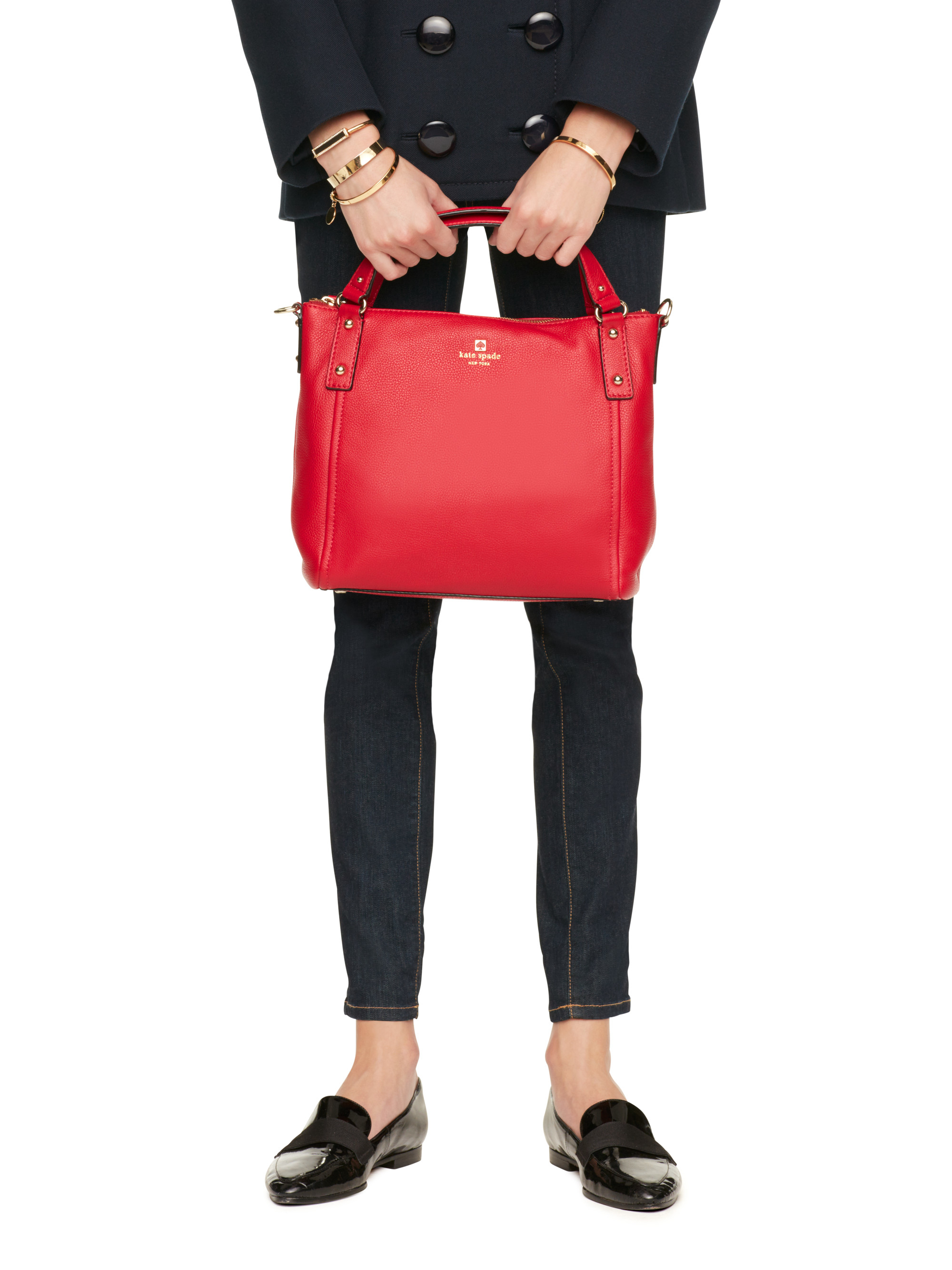a51977e7b06c kate spade new york Red Pine Street Small Kori Leather Shoulder Bag