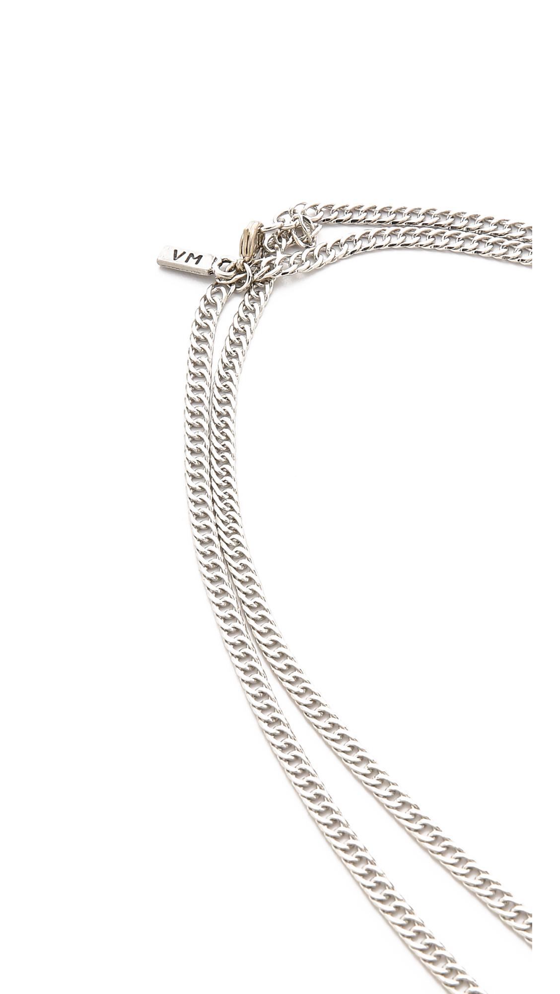 Vanessa Mooney The Novarro Tassel Necklace - Silver in Metallic