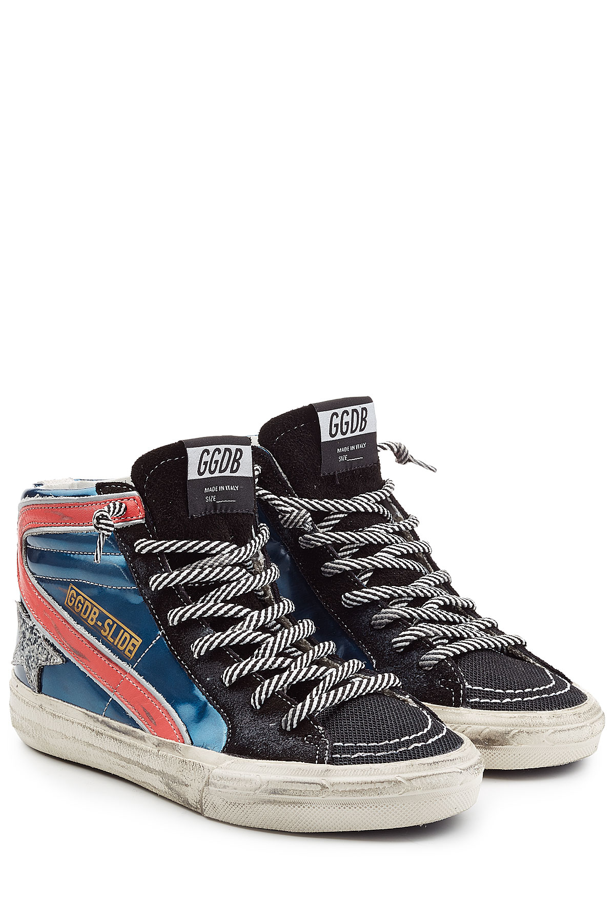 Golden Goose Deluxe Brand Leather High Top Sneakers In