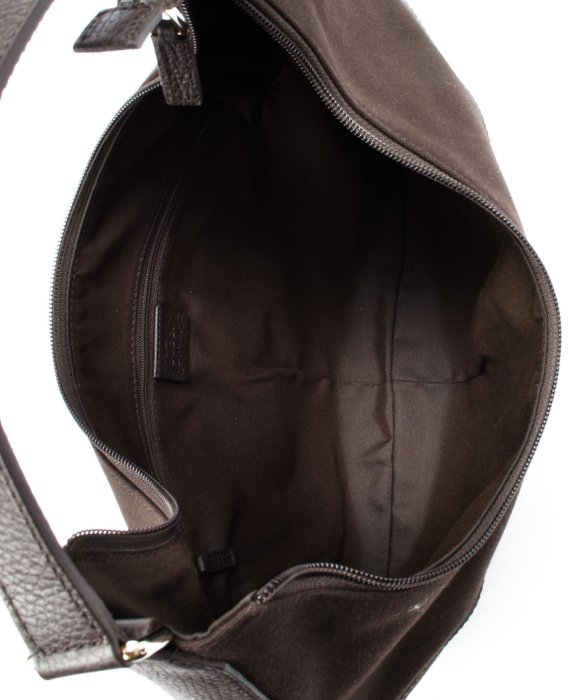Gucci Preowned Dark Brown Cotton Interlocking Gg Hobo Bag in Brown ...
