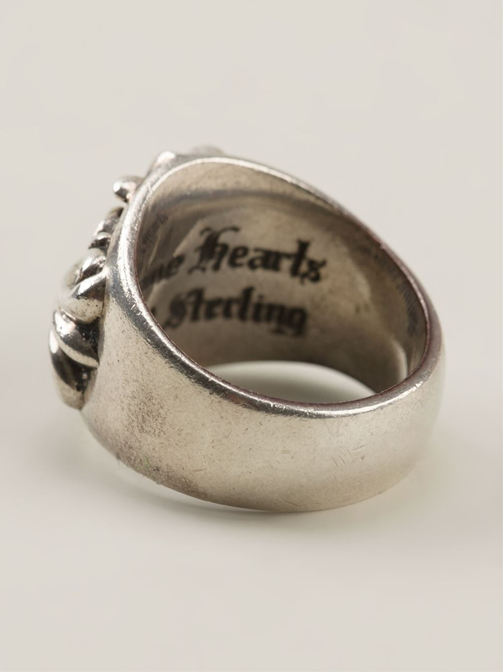 Chrome Hearts Baroque Engraved Ring in Metallic