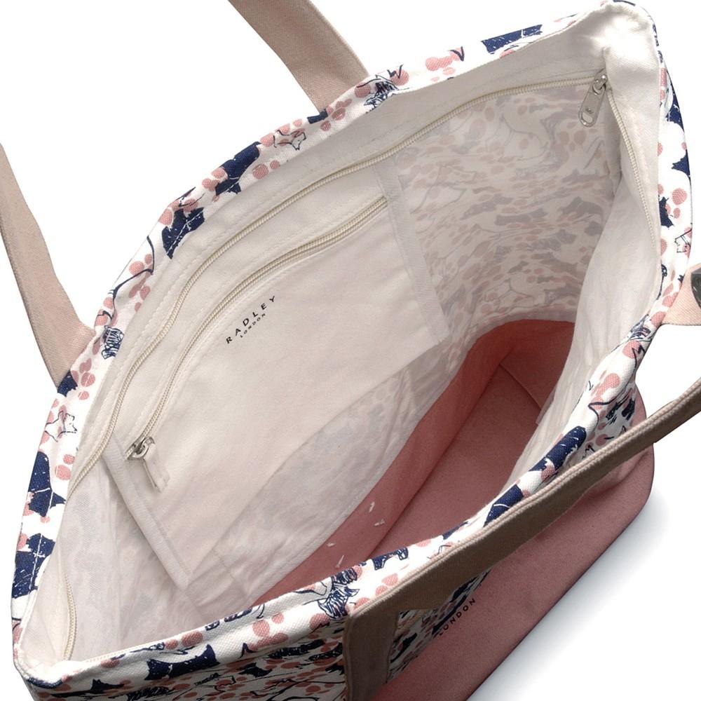 Radley Cherry Blossom Dog Tote Bag in Pink