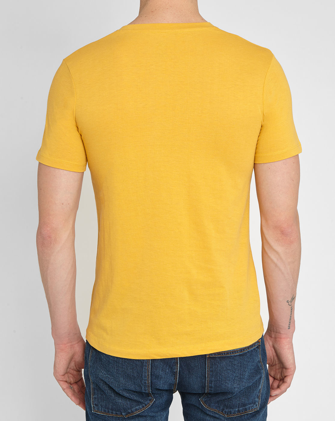 M.studio Mottled Warm-yellow Emile Jersey V-neck T-shirt ...