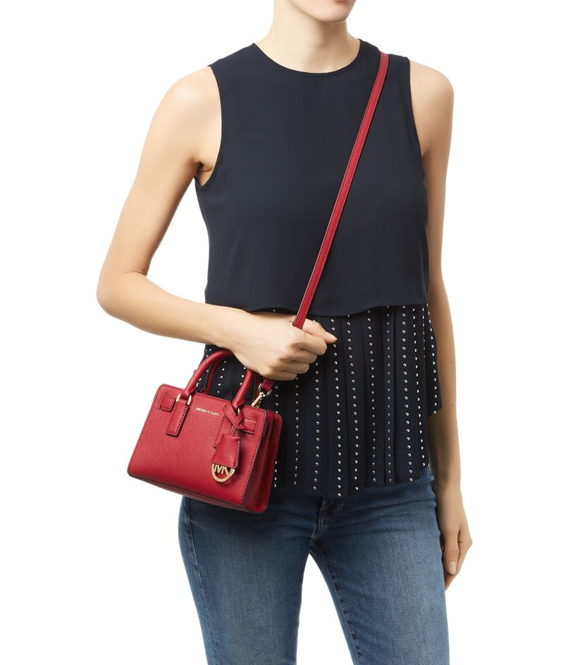 0405491010058c ... low price michael michael kors small dillon cross body bag in red lyst  1feee 852b2 czech ...
