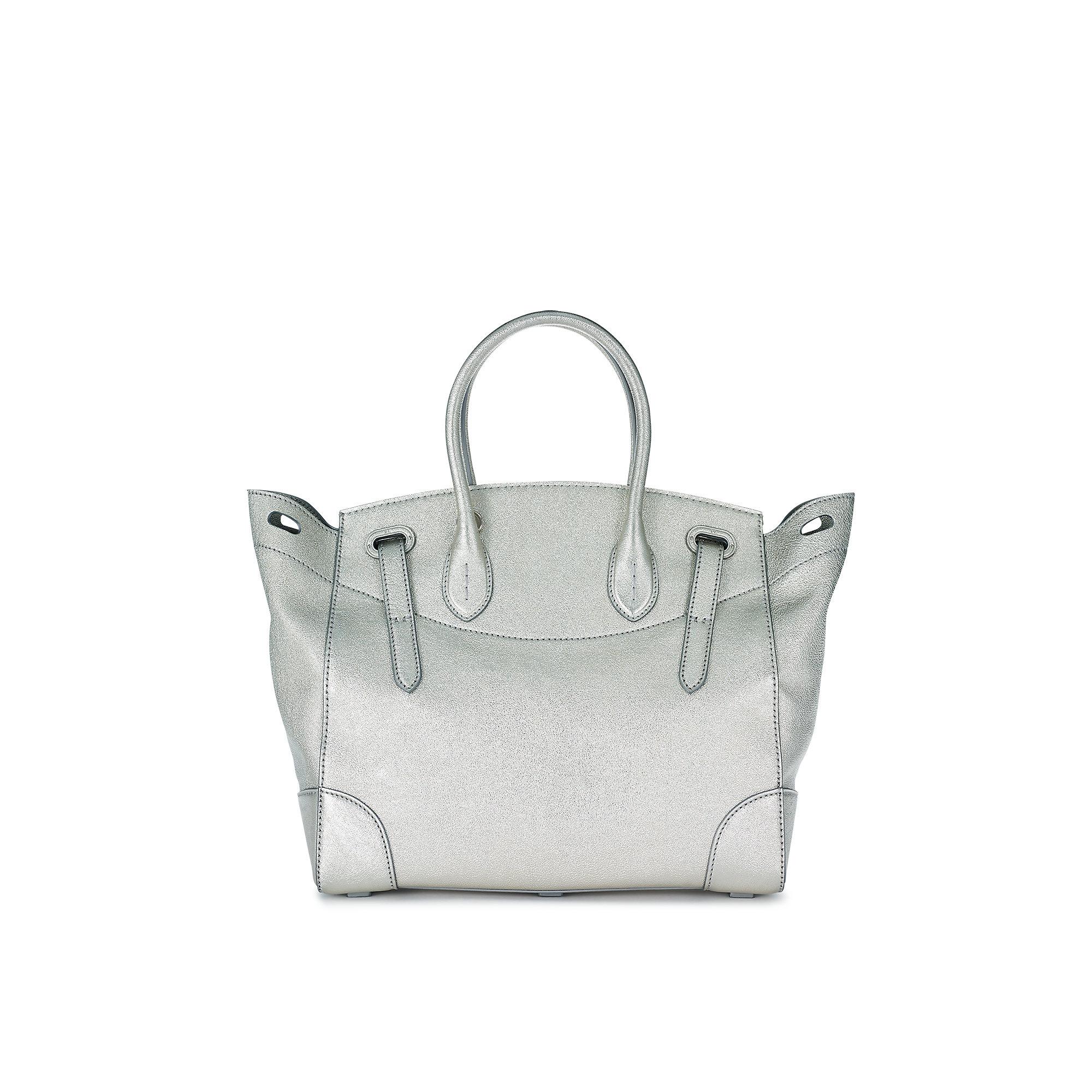 d48157680db Ralph Lauren   Silver Metallic Soft Ricky Bag   Lyst