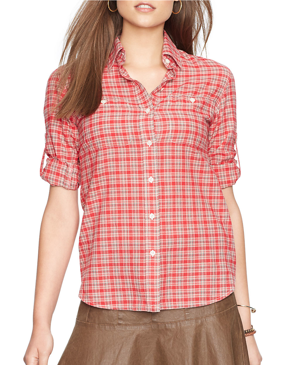 Red House ® Windowpane Plaid Non-Iron Shirt. RH Red House ® - Dobby Non-Iron Button-Down Shirt. RH Red House ® - Mini-Check Non-Iron Button-Down Shirt. RH