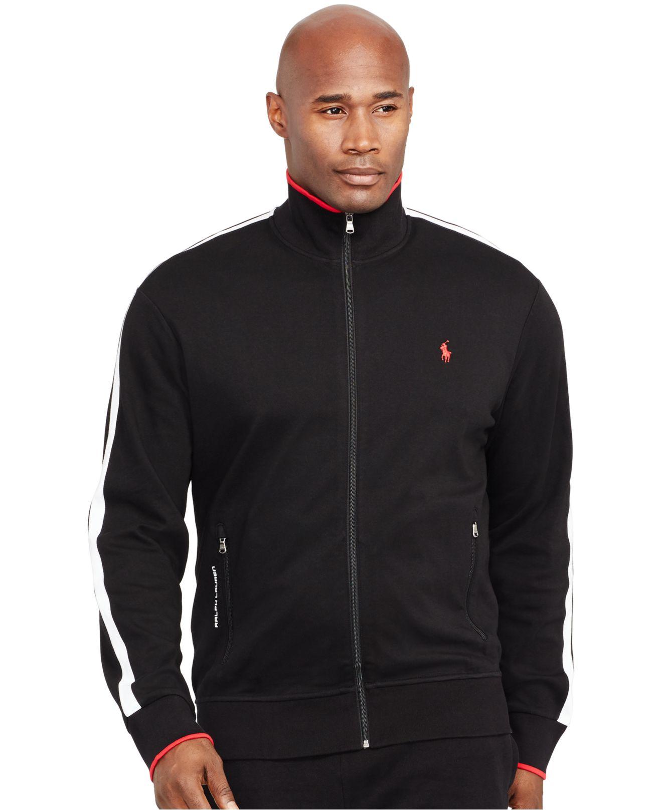 d5dee194 Polo Ralph Lauren Black Big And Tall Full-zip Interlock Track Jacket for men