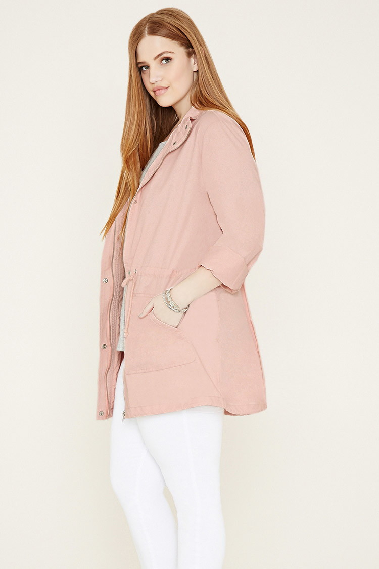 Forever 21 Plus Size Utility Jacket in Pink | Lyst