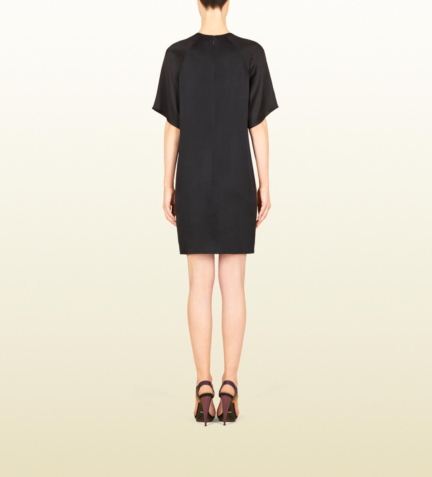 Gucci Multilines Nouveau Print Raglan Dress Lyst