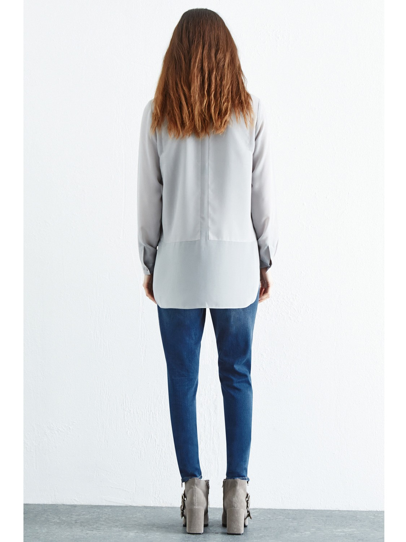 Warehouse Denim Zip Hem Ripped Jeans in Indigo (Blue)