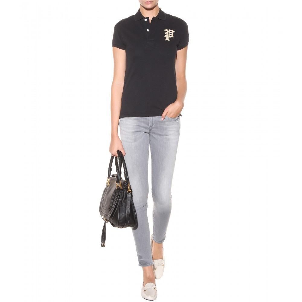 True Religion Chrissy Mid-Rise Super Skinny Jeans in Grey