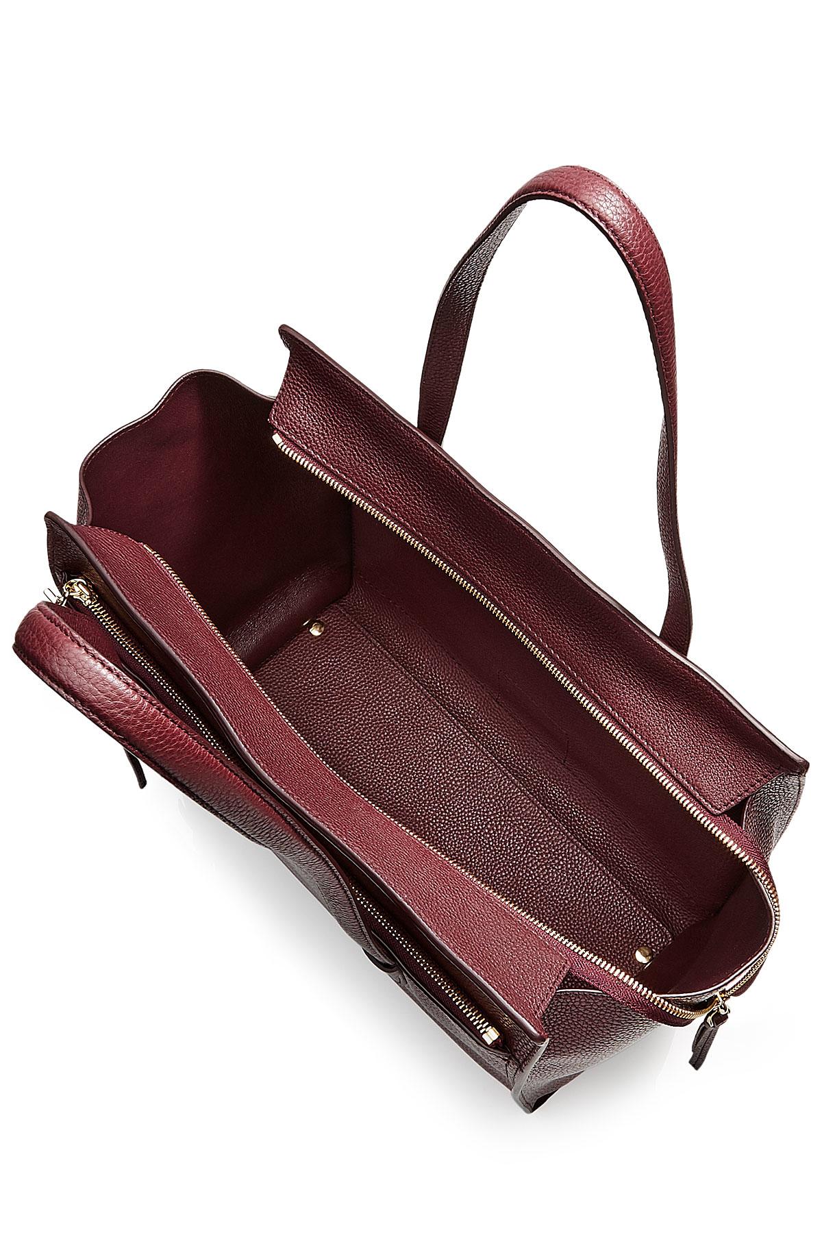 0da267a299c8 Lyst - Ferragamo Amy Large Leather Tote - Purple in Purple