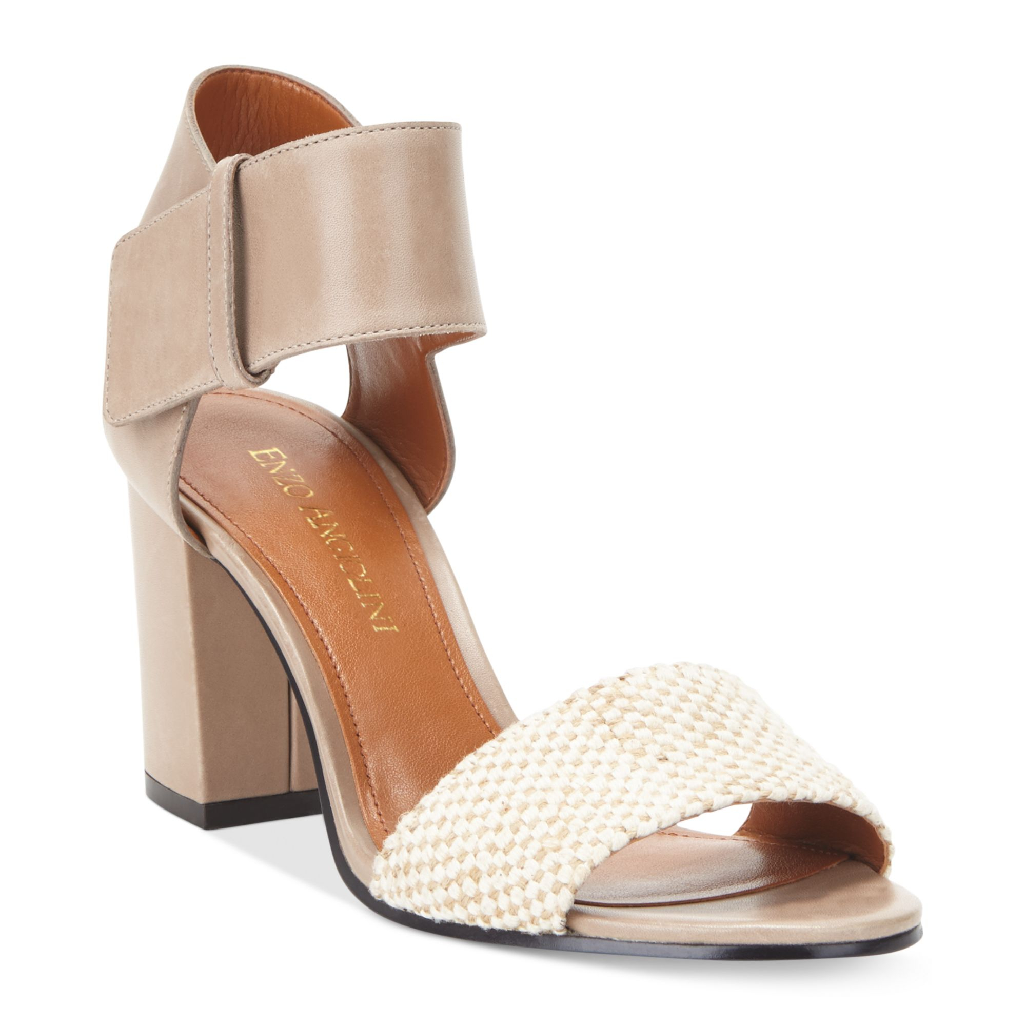Lyst - Enzo Angiolini Gwindell Sandals in Natural dca28208b