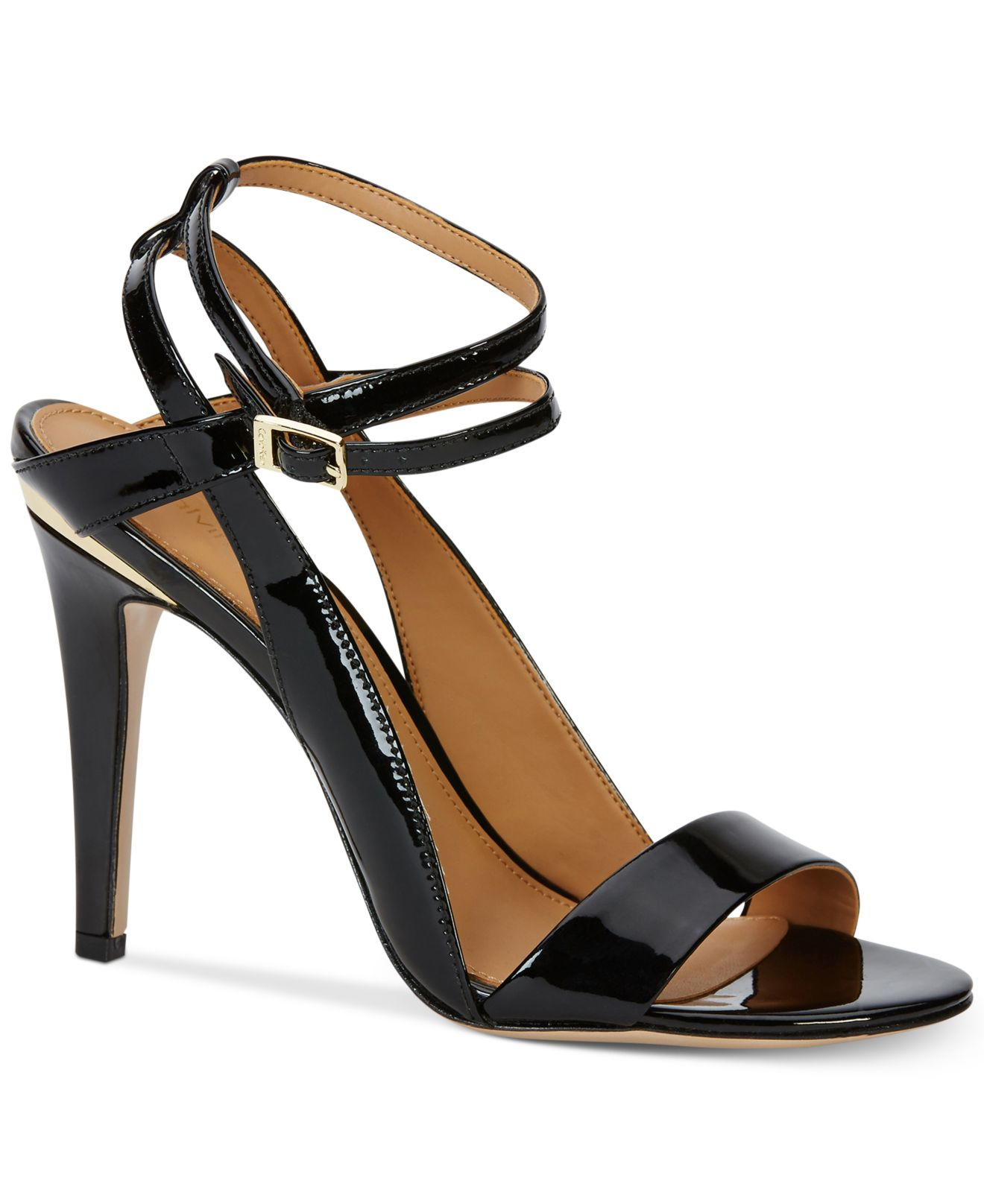 61a3fdc3dfc0f2 calvin klein black sandals lyst calvin klein s melville ankle sandals