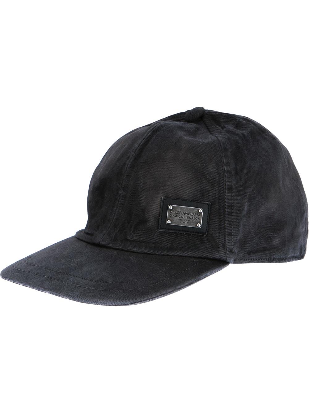 Lyst - Dolce   Gabbana Baseball Cap in Black for Men b5b697ac47b