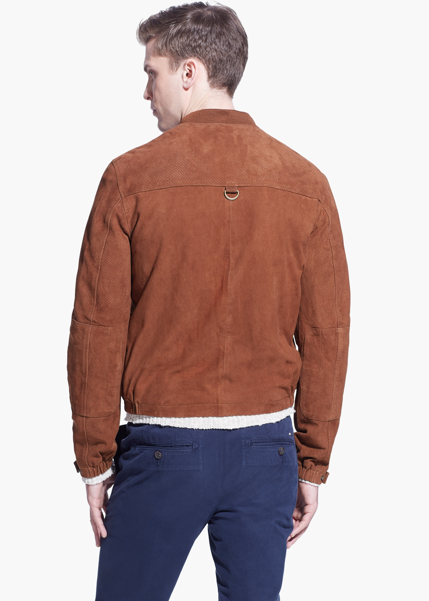 super specials best quality factory price Mango Suede Bomber Jacket in Chocolate (Brown) for Men - Lyst