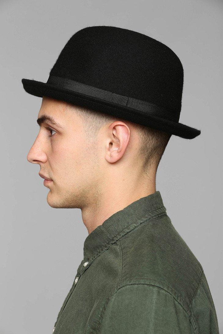 Lyst - Urban Outfitters Felt Bowler Hat in Black for Men 6f395dd022d
